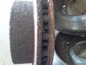 Worn Automotive Rotor