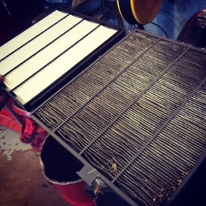 replacing automotive air filter
